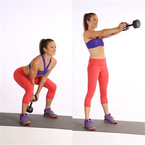 kettlebell swing dumbbell workout weight popsugar minute lose strip loss