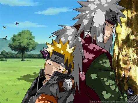 Naruto Sleep In Back Jiraiya Wallpaper