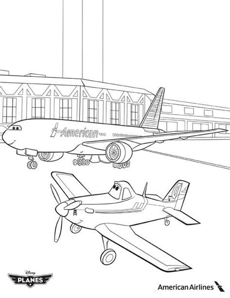Kleurplaat Skipper by Image Dusty And American Airlines Plane In Disney Planes