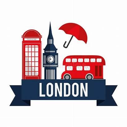 London Landmarks Graphic Landmark Vector Illustration