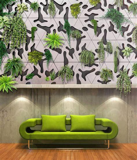 modular concrete green wall tiles for indoor outdoor