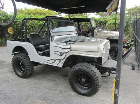 custom paint jeep willys willys convertible 1956 gray for sale 8305203542w