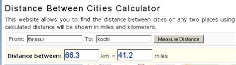 mapquest distance cities