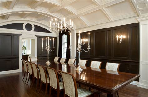 24+ Black And White Dining Room Designs