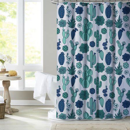 Cactus Shower Curtain - mainstays scottsdale cactus shower curtain walmart