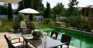 photo de piscines avec terrasse salon de jardin With photo de jardin avec piscine