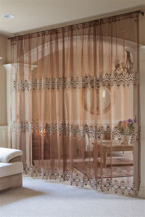 sheer curtain panels cleopatra embroidery sheer voile