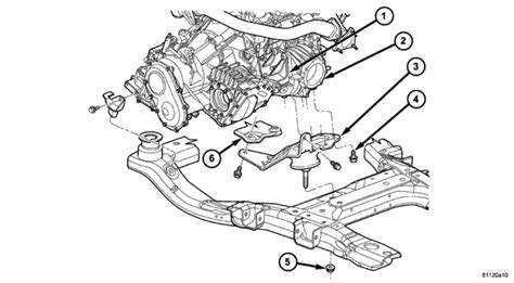 2004 Chrysler Pacifica Transmission Diagram by Replacing Motor Mounts On A 2004 Chrysler Pacifica