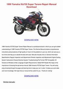 1999 Yamaha Xtz750 Super Tenere Repair Manual By