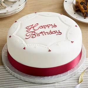 Soft Iced Happy Birthday Cake   Bettys