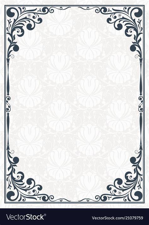 vintage frame  beautiful filigree decorative border