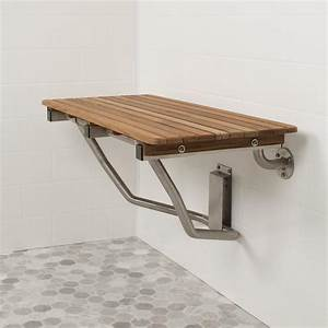 Ada Compliant Folding Teak Shower Bench