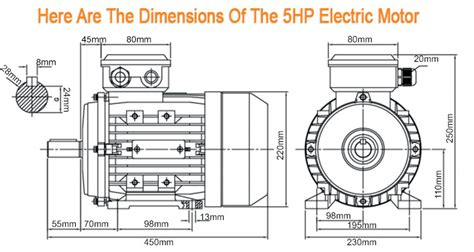 Electric Motor Dimensions by New Single Phase 240v 5hp Electric Motor Single Phase 1450