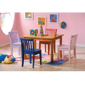table and chair sets 5 pc newport multicolor table