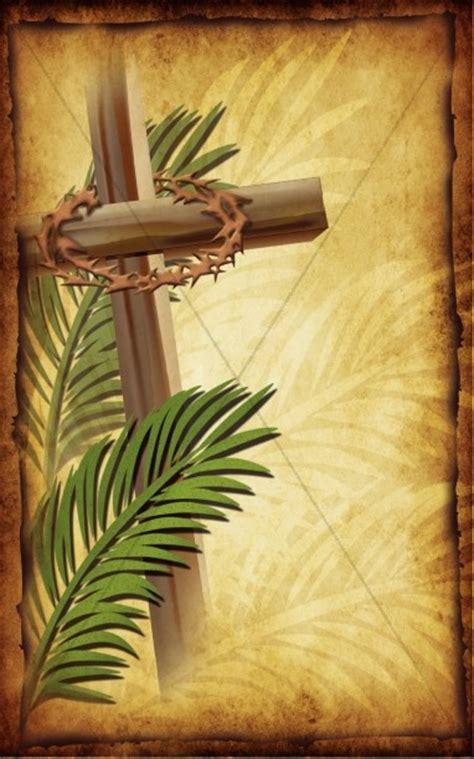 palm sunday church bulletin cover cross bulletin covers