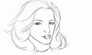 Sketches Of Women Faces Drawings Coloring Pages