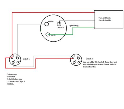 4 wire rotary light dimmer switch wiring diagram touch