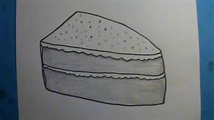 how to draw a piece of cake | How to Draw Faster