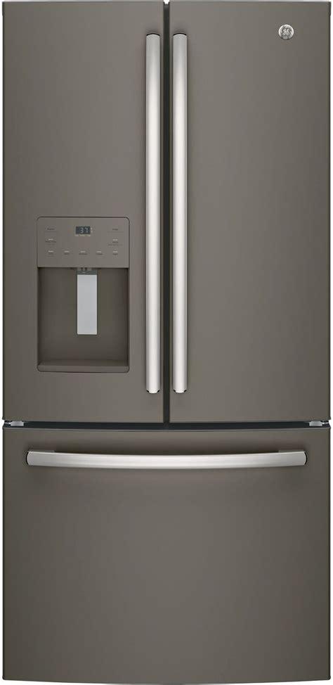ge  cu ft counter depth french door refrigerator slate gyejmles spencers tv appliances