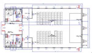 Church Building Floor Plan Design