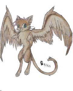 cats with wings winged cat for ronekimew by saku senpai on deviantart