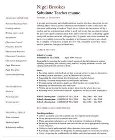 Substitute Teaching Resume by Free Resume 40 Free Word Pdf Documents