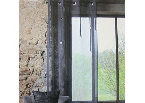 rideau voilage ring gris anthracite voilage pr 234 t 224 poser voilage pas cher