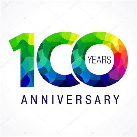 anniversary colors 100 anniversary color logo stock vector 81762352