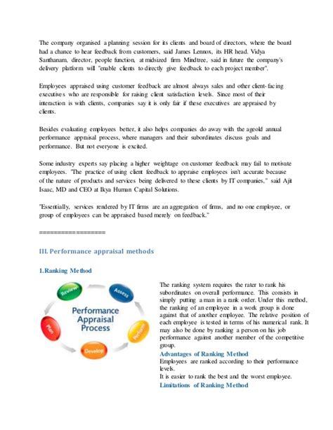 Performance appraisal in wipro
