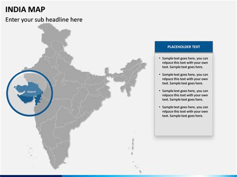 editable india map  powerpoint sketchbubble