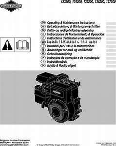 Briggs And Stratton Digital Camera 133200 Users Manual 6328cv