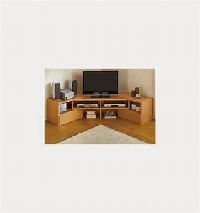 Meuble D Angle Tele : meuble tv avec rangement nestis ~ Teatrodelosmanantiales.com Idées de Décoration