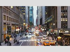 Elevated view looking along 42nd Street near Grand Central