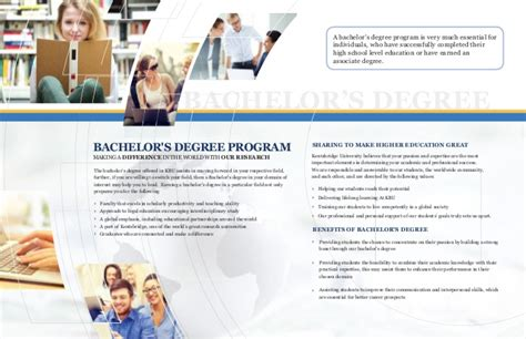 Bachelors Program by Kentsbridge Bachelors Degree Program Brochure