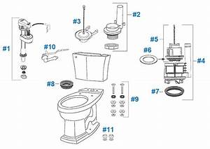Toto Clayton Toilet Replacement Parts