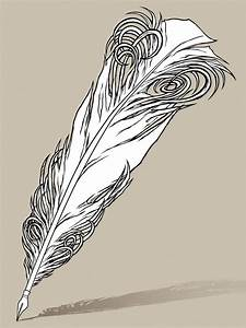 Quill Pen Tattoo Design Line-work by awolfillustrations on ...