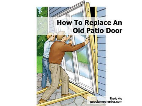 how to replace an patio door
