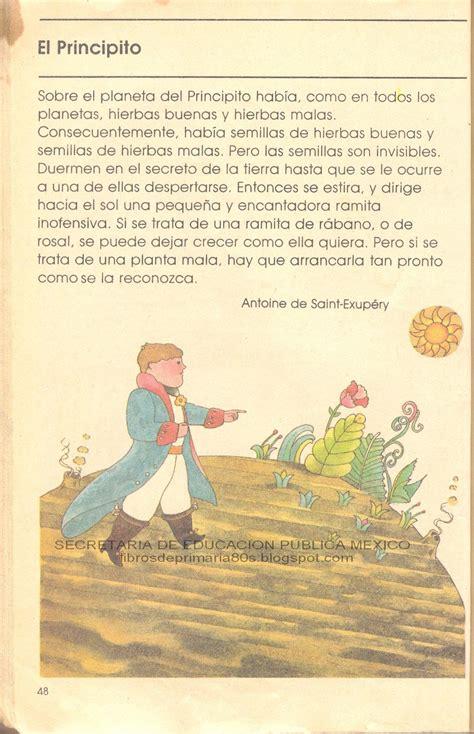 El principito el libro es contado por un personaje adulto el cual es aviador. Libros de Primaria de los 80's: El Principito (Mi libro de segundo Lecturas)