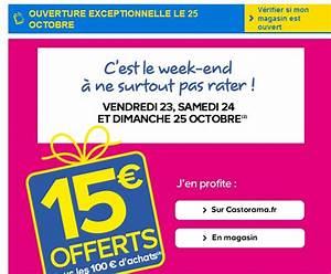 Promo Castorama 15 Par Tranche De 100 : castorama 15 euros offerts par tranche de 100 euros d ~ Dailycaller-alerts.com Idées de Décoration