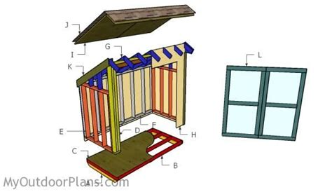 lean  storage shed plans  outdoor plans diy shed