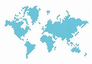 Dotted Carte du monde - Téléchargez de l'art, des ...