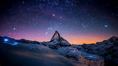 Winter Wallpapers Night Mountain Resolution Backgrounds 1080p