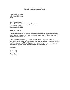 Acceptance Of Resignation Letter Example - Sample Resignation Letter