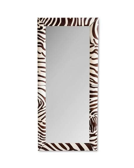 zebra floor mirror zebra hide brown and ivory floor mirror