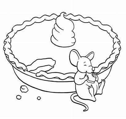 Coloring Pie Pages Pumpkin Printable Thanksgiving Apple