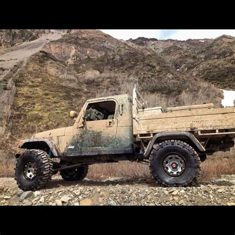 Jeeps With Truck Beds by Custom Jeep Tj Truck Bed Vehicle Offroad