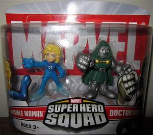 Invisible Woman Doctor Doom Super Hero Squad action figures