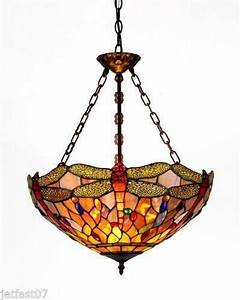 Stained Glass Hanging Light Fixtures Dragonfly Hanging Lamp Ebay