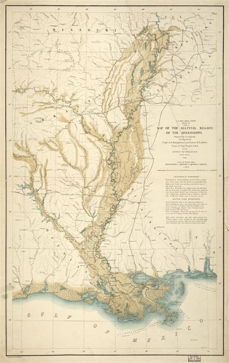 Map of the alluvial region of the Mississippi | Library of ...