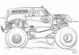 Digger Grave Monster Truck Dibujos Colorear Dibujo Coloring sketch template